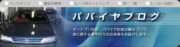ライオンのつぶやき オートプロ店長 パパイヤ松島の営業日誌 (毎日更新中!)
